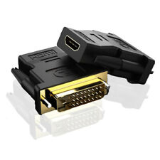 HDMI to DVI Adapter, Female to Male Converter cable 1080P Convertor Gold-Plated