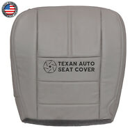 2008 2009 2010 Ford Lariat F450, F550 FX4 Driver Bottom Leather Seat Cover Gray