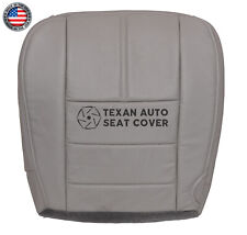 2009 Ford F250, F350 Lariat XLT Single Cab Driver Bottom Leather Seat Cover Gray