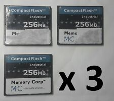 Lot x3 Memory Corp Industrial - CompactFlash CF 256 MB