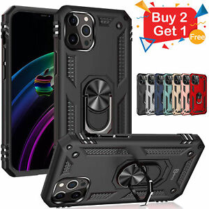 For Iphone 13 12 11 Pro MAX XR Case Kickstand Shockproof Ring Holder Hard Cover