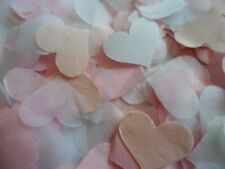 Blush, Baby Pink & White Hearts Wedding Party Confetti Throwing   FILL 8 CONES