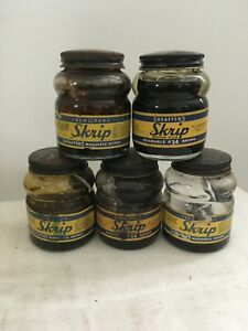 Vintage Lot of 5 SHEAFFER'S SKRIP Washable Brown #14 Ink