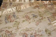 """Vintage fabric design Baby Quilt 44"""" x 36"""" New Me & Mommy Dallas Usa"""