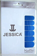 "Jessica Nailsy Professional Nail Foils Wraps x 24 ""Electric Blue"" Metallic Blue"