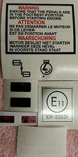 YAMAHA FS1-E EARLY PINSTRIPE 1973-76 WARNING INFORMATION DECAL KIT