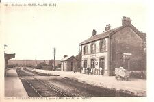 Gare de Touffreville - Criel pour Paris par Eu ou Dieppe . Criel - Plage .