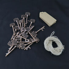 50PCS Vintage Metal Key Shaped Key Bottle Opener Wedding Favor with Blank Tags