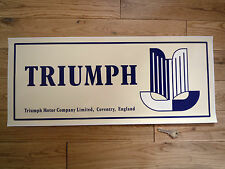 TRIUMPH Motor Co Large Workshop STICKER Garage Sign Sales & Service Stag TR6 TR4