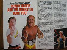 1985 TV Guide(RODDY  PIPER/JOAN  BAEZ/LOVE  CONNECTION/HULK  HOGAN/JACK COLEMAN)