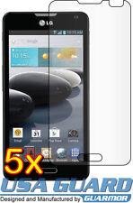 5x Clear LCD Screen Protector Cover Guard Shield Film LG Optimus F6 D600 MS500