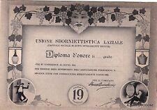 # MARINO: SALUTI DA - UNIONE SBORNIETTISTICA LAZIALE - diploma d'onore..