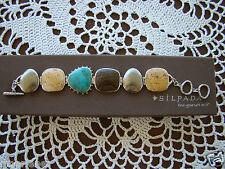 Bronzite, Jasper Bracelet B1934 $199 Silpada Sterling Silver Turquoise, Pyrite,