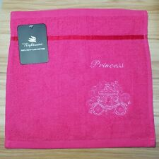 Embroidered 100% Egyptian Cotton Face Cloth / Flannel -  Princess Carriage