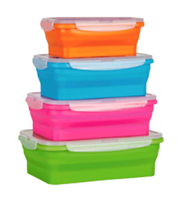 Collapsible Popup Set of 4 Containers Camping Hiking