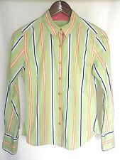 womens ROBERT GRAHAM long sleeve shirt-button down-striped-cotton-sz 4-cotton