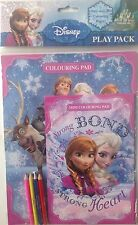Disney Frozen Play Pack, includes colouring pad and colouring pencils