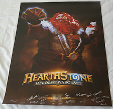 BlizzCon 2016 Official Hearthstone Signed Poster