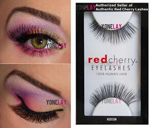 LOT 3 Pairs RED CHERRY #82 False Eyelashes Human Hair Lash Fake Eye Lashes