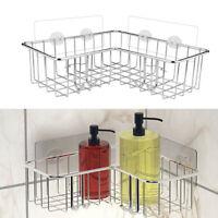 Stainless Steel Storage Organizer Corner Shower Caddy Bath Shelf With Hooks AU
