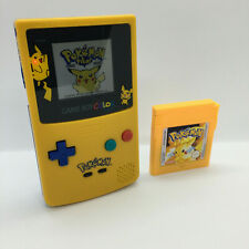 Nintendo Gameboy Color Light Pokemon Backlight & Glass Screen + Yellow Game