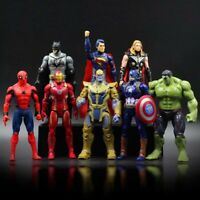 8pcs Marvel Avengers Thanos Bat Iron Men Captain America Thor Hulk Figures Set