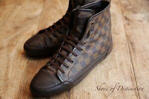 Men's Genuine Louis Vuitton Brown Hi Tops Boots Trainers Sneakers UK 8.5 US 9.5