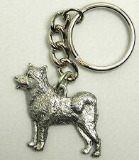 Alaskan Malamute Dog Keychain Keyring Harris Pewter Made Usa Key Chain Ring