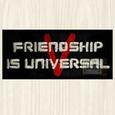 Friendship is Universal Patch V TV Series Lizard Visitor Logo Diana Embroidered