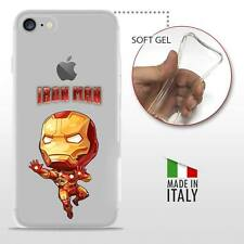 iPhone 7 TPU CASE COVER GEL PROTETTIVA TRASPARENTE DC MARVEL Iron Man