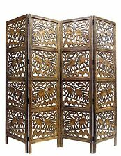 Shilpi Wooden Room Divider Partition Screen in  4 Panel