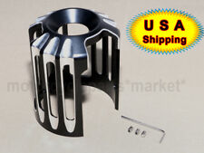 Black CNC Aluminum Deep Cut Oil Filter Cover Trim For Harley Twin Cam Models USA
