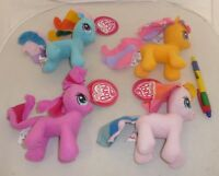 Set 4 Peluche My Little Pony 15cm Rainbow Pinkie Twilight Fluttershy