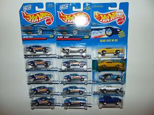 15) Hot Wheels 1970 OLDS 442 W-30 Blue Card Set Muscle Car ** LOT