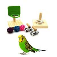 Bird Chew Toys Parrot Basketball Hoop Prop Trick Tabletop Ring Mini Roller Skate