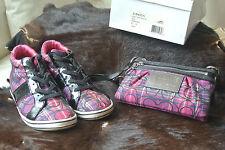 COACH Finch Ladies Sz 8M Hi-Tops Sneakers Athletic Shoes w/ match handbag C-Logo