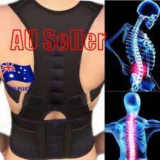 Magnetic Posture Corrector Belt for Lumbar Lower Back Support Shoulder Brace BK
