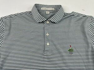 HOLDERNESS & BOURNE Men's Tailored Fit Striped Golf Polo Size Large MERION