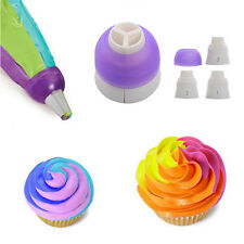 3 Farbe Converter Cupcake Nozzles Ausstecher Fondant Modellierwerkzeug Deko