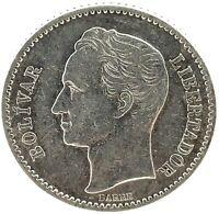 Venezuela 1936  1 Bolivar Gem Unc. Silver Coin Y#22
