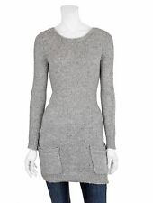 INHABIT ALPACA WOOL WEEKEND TUNIC 1955 SWEATER CARDIGAN GREY TOP NWT $358 S