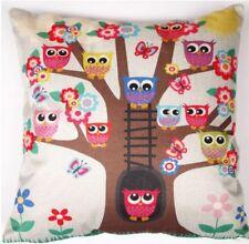 Owl Cushion Throw Pillow Cover Sham Girls Children 42cm Sq