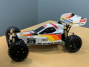 Pristine Vintage Kyosho Optima Mid 1/10 Buggy with Box Art Body & Wing