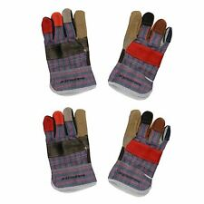 "2 Pairs 10"" Large Rainbow Hide Furniture Gloves Work Wear Safety Gardening"