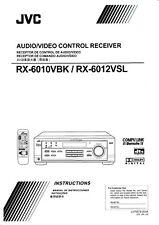 Bedienungsanleitung-Instruction Livre Pour JVC RX-6010, RX-6012