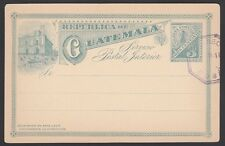 Guatemala, 1890. Post Card H&G 3, Unused w/Cancel