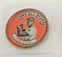 Baseball Coin Vtg Topps 1964 All Stars Hank Aaron 149 Milwaukee Braves