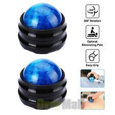 2x 360° Massage Roller Ball For Body Neck Back Leg Arm Massager Hand-hold Care