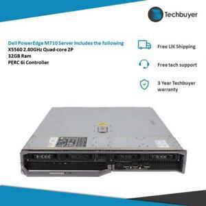 Dell PowerEdge M710 Server X5560 2.80GHz Quad-core 2P 32GB PERC 6i Server