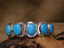 Sterling Silver and Turquoise Modern Cuff Bracelet